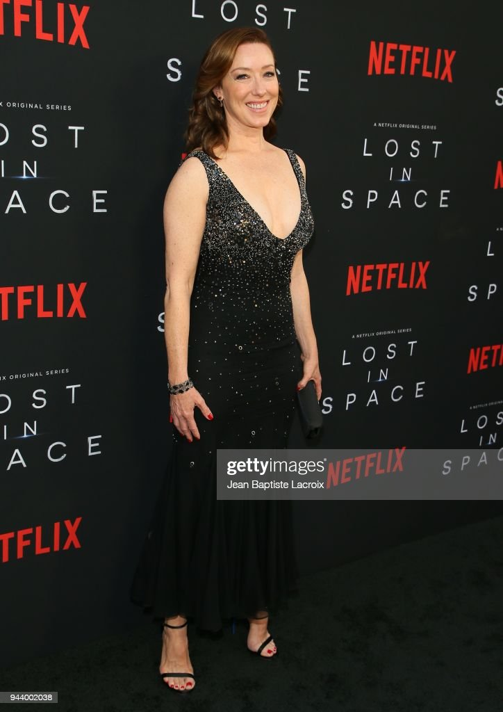 Molly Parker attends the premiere of Netflix's 'Lost In Space' Season 1 on April 9, 2018 in Los Angeles, California.