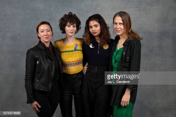 Molly Parker Miranda July Helena Howard and Josephine Decker from Madeline's Madeline are photographed for Los Angeles Times on January 22 2018 in...