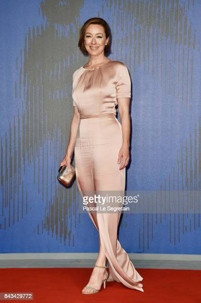 Molly Parker walks the red carpet ahead of the 'Wormwood' screening during the 74th Venice Film Festival at Sala Giardino on September 6 2017 in...