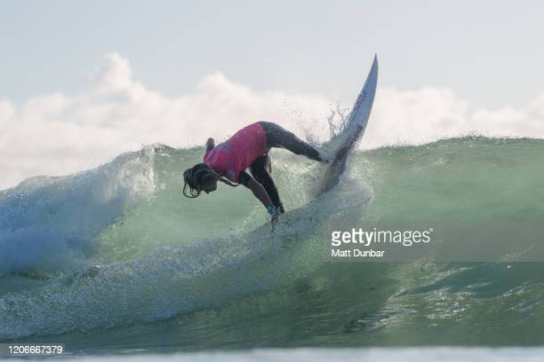Molly Picklum of Australia surfing in Round 3 of the 2020 Sydney Surf Pro at Manly Beach on 11 March 2020 in Sydney Australia today