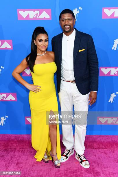 Molly Qerim and Jalen Rose attend the 2018 MTV Video Music Awards at Radio City Music Hall on August 20 2018 in New York City