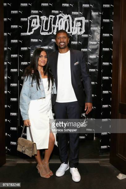 Molly Qerim and Jalen Rose attend the PUMA Basketball launch party at 40/40 Club on June 20 2018 in New York City