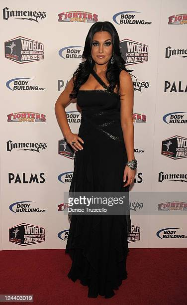 Molly Qerim arrives at the Fighters Only World Mixed Martial Arts Awards at the Pearl Theatre at the Palms Hotel and Casino on December 1 2010 in Las...