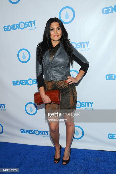 Molly Qerim arrives at the Generosity Water's 4th Annual Night of Generosity at Hollywood Roosevelt Hotel on May 4 2012 in Hollywood California