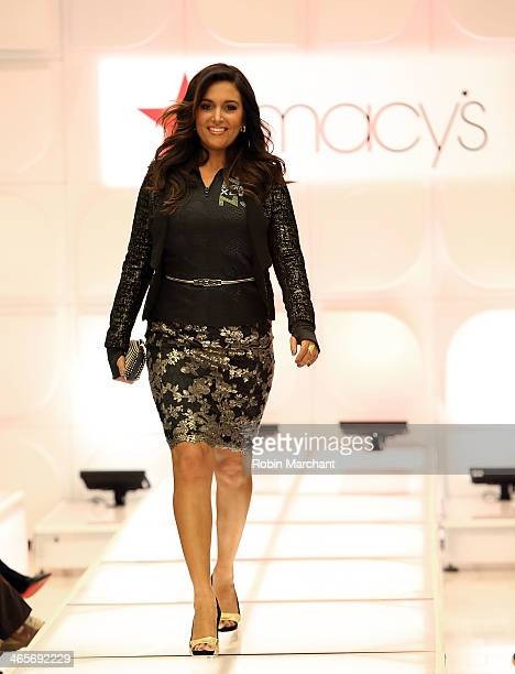 Molly Qerim walks the runway at Macy's Warm Welcome To Super Bowl XLVIII at Macy's Herald Square on January 28 2014 in New York City