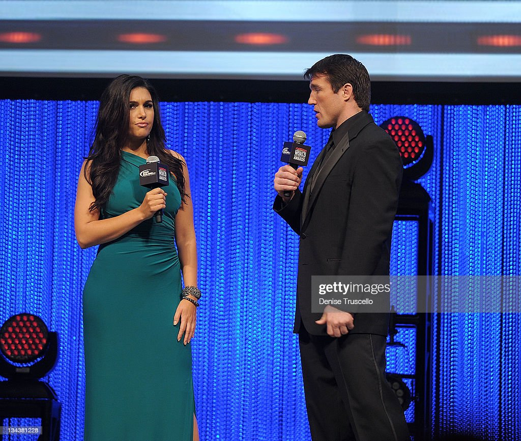 Molly Qerin and Chael Sonnen host the 2011 Fighters Only World Mixed Martial Arts Awards at the Palms Casino Resort on November 30, 2011 in Las Vegas, Nevada.