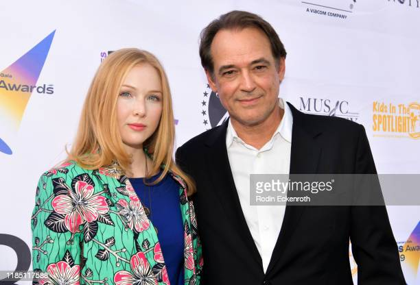 Molly Quinn and Jon Lindstrom attend the 2019 Kids In The Spotlight Awards at Paramount Pictures on November 02 2019 in Los Angeles California