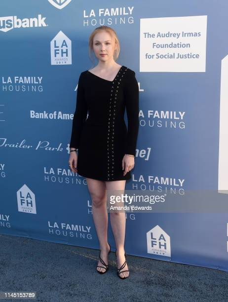 Molly Quinn arrives at the LA Family Housing Annual LAFH Awards and Fundraiser Celebration at The Lot on April 25 2019 in West Hollywood California