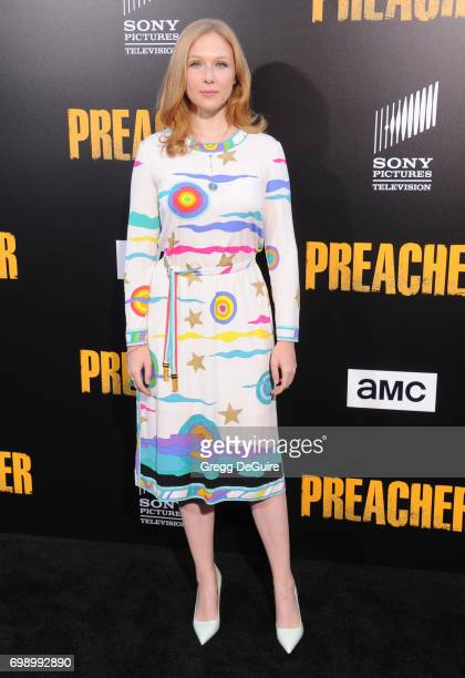 Molly Quinn arrives at the premiere of AMC's 'Preacher' Season 2 at The Theatre at Ace Hotel on June 20 2017 in Los Angeles California