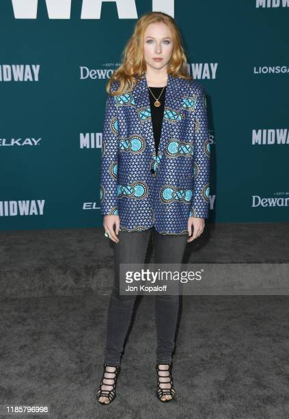 Molly Quinn attends the premiere of Lionsgate's Midway at Regency Village Theatre on November 05 2019 in Westwood California
