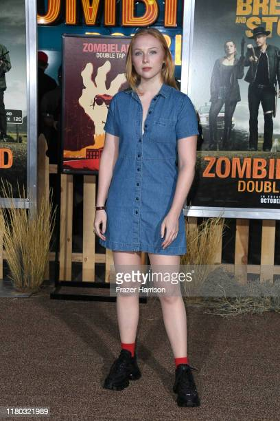 Molly Quinn attends the Zombieland Double Tap Sony Pictures Premiere at Regency Village Theatre on October 10 2019 in Westwood California