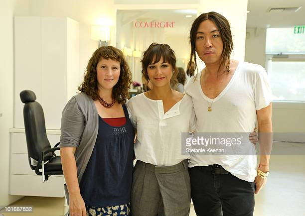 Molly R. Stern, Rashida Jones and Byron Williams attend COVERGIRL Beauty Salon with Celebrity Makeup Artist Molly R. Stern at Byron & Tracey salon on...