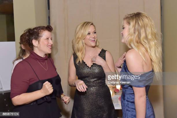 Molly R Stern Reese Witherspoon and Ava Phillippe attend Molly R Stern X Sarah Chloe Jewelry Collaboration Launch Dinner on December 4 2017 in West...