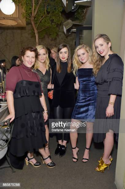 Molly R Stern Reese Witherspoon Lily Collins Ava Phillippe and Zahava Ryzman attend Molly R Stern X Sarah Chloe Jewelry Collaboration Launch Dinner...