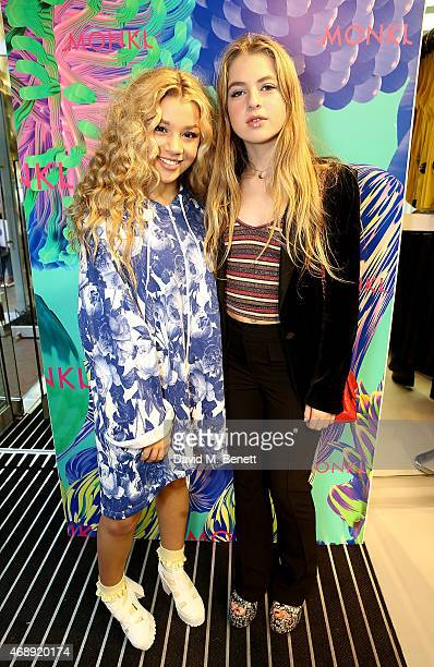 Molly Rainford and Anais Gallagher attend the Monki VIP party on April 8 2015 in London England