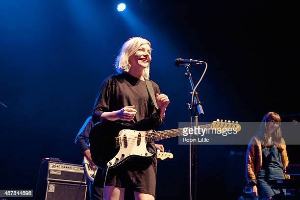 Molly Rankin and Kerri MacLellan of Alvvays perform at O2 Shepherd's Bush Empire on September 11 2015 in London England