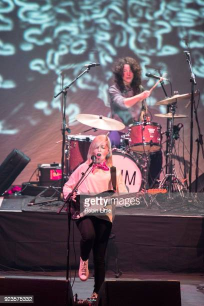 Molly Rankin and Sheridan Riley of Alvvays perform at The Roundhouse on February 23 2018 in London England