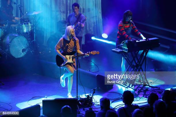 Molly Rankin Brian Murphy and Kelly MacLellan of Alvvays perform at KOKO on September 8 2017 in London England