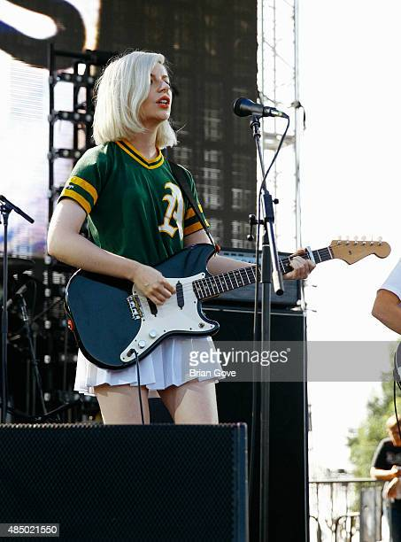 Molly Rankin of Alvvays performs at FYF 2015 at LA Sports Arena Exposition Park on August 22 2015 in Los Angeles California