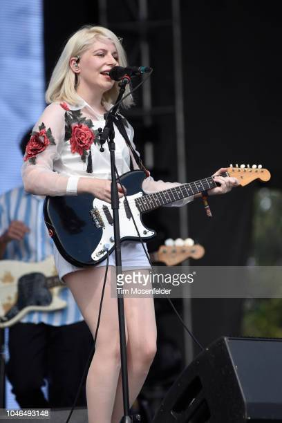 Molly Rankin of Alvvays performs during the 2018 Austin City Limits Music Festival at Zilker Park on October 5 2018 in Austin Texas