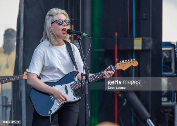 Molly Rankin of Alvvays performs on day one of Mo Pop Festival at West Riverfront Park on July 28 2018 in Detroit Michigan