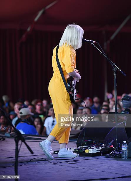 Molly Rankin of Alvvays performs onstage during day 2 of the 2016 Coachella Valley Music Arts Festival Weekend 1 at the Empire Polo Club on April 16...