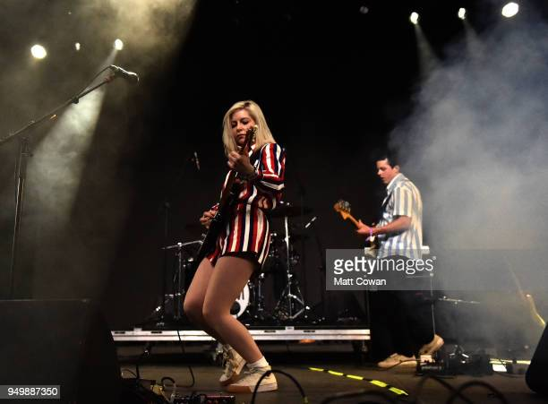 Molly Rankin of Alvvays performs onstage during the 2018 Coachella Valley Music And Arts Festival at the Empire Polo Field on April 21 2018 in Indio...