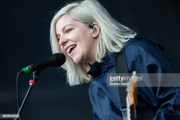Molly Rankin performs with Alvvays during the Boston Calling Music Festival at the Harvard Athletic Complex in the Allston neighborhood of Boston on...