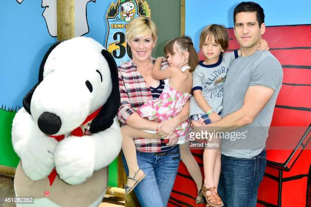 Molly Ringwald Adele Gianopoulos Roman Gianopoulos and Panio Gianopoulos attend Camp Snoopy's 30th anniversary VIP party at Knott's Berry Farm on...