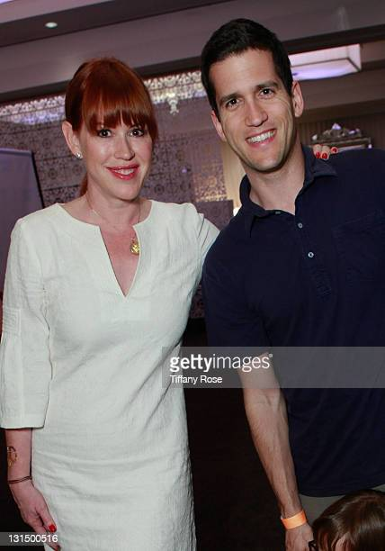 Molly Ringwald and her husband attend the GBK Kid's Choice Awards 2011 Gift Lounge at the SLS Hotel on April 1 2011 in Beverly Hills California