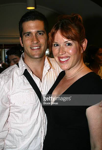 Molly Ringwald and husband during Kiki and Herb Alive on Broadway Opening Night After Party at The Helen Hayes Theater and O2 Lounge at The Time...