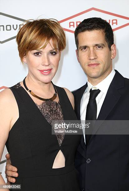 Molly Ringwald and husband Panio Gianopoulos attend the Ars Nova Revolution Benefit at the Edison Ballroom on September 21 2015 in New York City