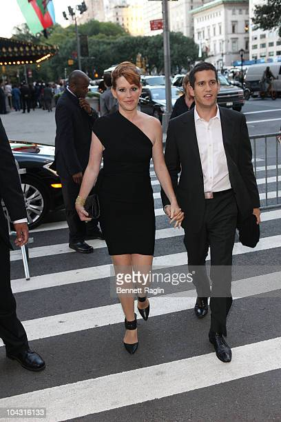 Molly Ringwald and husband Panio Gianopoulos attend the Film Society of Lincoln Center's celebration of John Hughes on the 25th anniversary of his...