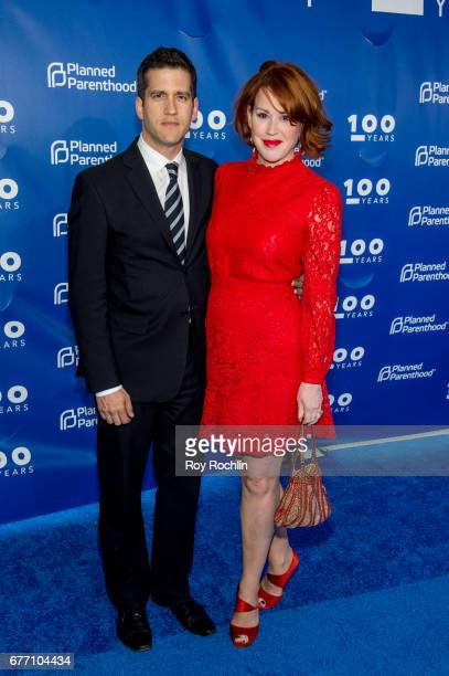 Molly Ringwald and husband Panio Gianopoulos attend the Planned Parenthood 100th Anniversary Gala at Pier 36 on May 2 2017 in New York City