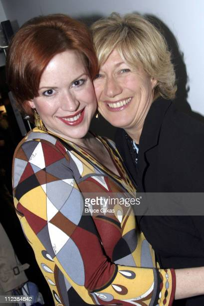 Molly Ringwald and Jayne Atkinson during Modern Orthodox Opening Night Celebration at Dodger Stages Theater in New York New York United States