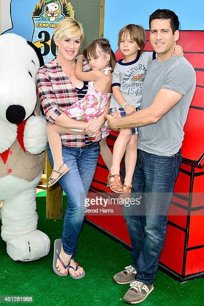 Molly Ringwald and Panio Gianopoulos attend Camp Snoopy's 30th anniversary VIP party at Knott's Berry Farm on June 26 2014 in Buena Park California