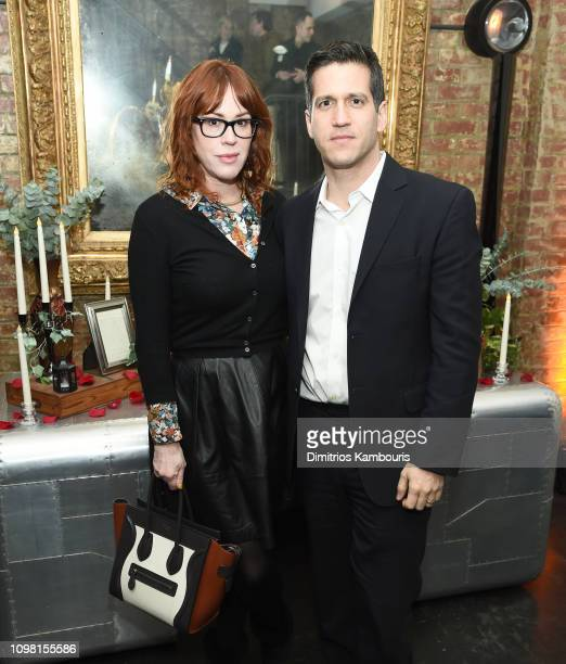 Molly Ringwald and Panio Gianopoulos attend the after party for I Am The Night on January 22 2019 in New York City