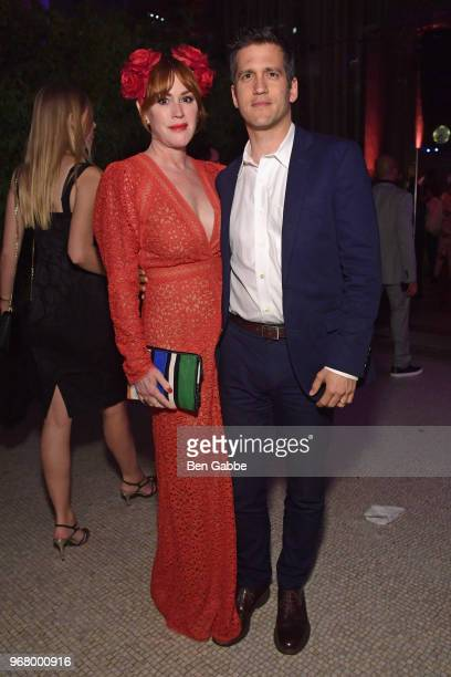 Molly Ringwald and Panio Gianopoulos attend The Hatter's Mad Tea Party 2018 Moth Ball at Capitale on June 5 2018 in New York City