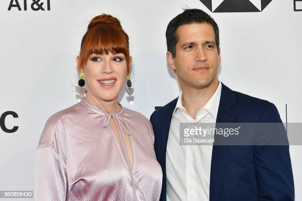 Molly Ringwald and Panio Gianopoulos attend the screening of All These Small Moments during the 2018 Tribeca Film Festival at SVA Theatre on April 24...