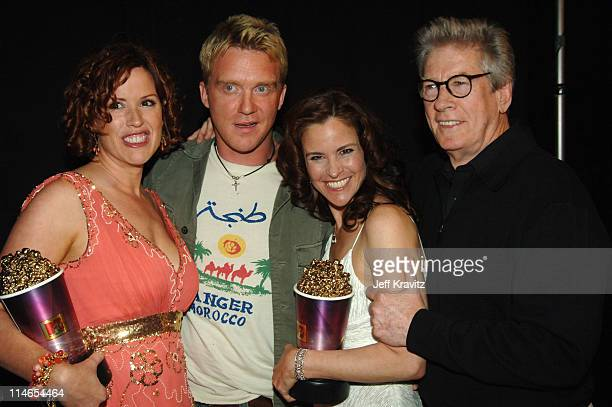 Molly Ringwald Anthony Michael Hall Ally Sheedy Paul Gleason winners of Silver Bucket of Excellence Award for The Breakfast Club