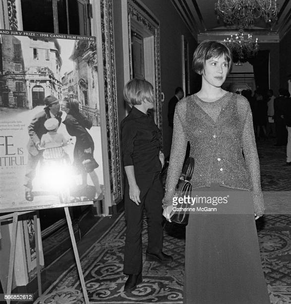 Molly Ringwald at the New York premiere of the movie 'Life Is Beautiful' at the Gotham Theater on October 1998 in New York City New York