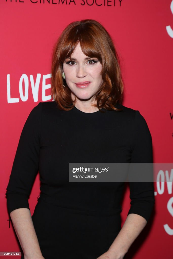 Molly Ringwald attends 20th Century Fox & Wingman host a NYC screening of 'Love,Simon' at Landmark Theatre on March 8, 2018 in New York City.