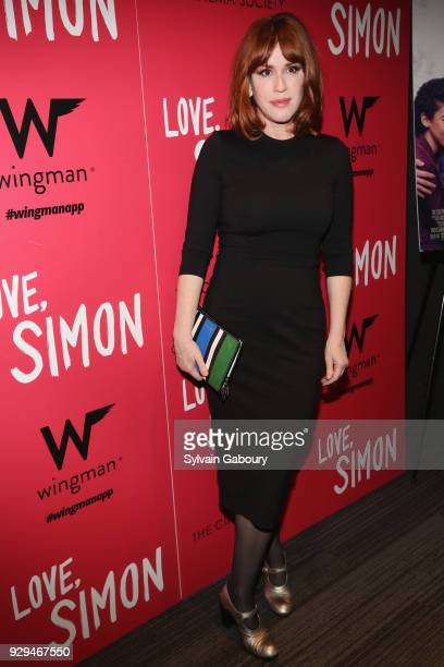 "Molly Ringwald attends 20th Century Fox & Wingman host a screening of ""Love, Simon"" on March 8, 2018 in New York City."