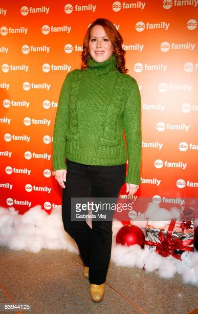 Molly Ringwald attends ABC Family's 25 Days of Christmas winter wonderland event hosted at The Rock Center Cafe at Rockefeller Center on December 7...