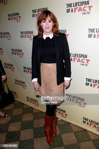 Molly Ringwald attends 'The Lifespan of a Fact' opening night at Studio 54 on October 18 2018 in New York City