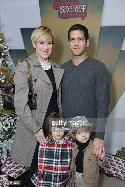 Molly Ringwald Panio Gianopoulos and their children Roman and Adele attend the 3rd Annual Santa's Secret Workshop Benefiting LA Family Housing at...