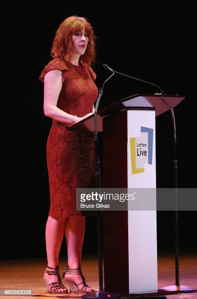 Molly Ringwald performs in the New York debut of the hit show 'Letters Live' at Town Hall on May 19 2018 in New York City