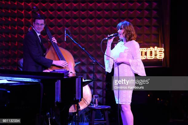 Molly Ringwald performs on stage at Chico's #HowBoldAreYou NYC Event at Joe's Pub on March 12 2018 in New York City
