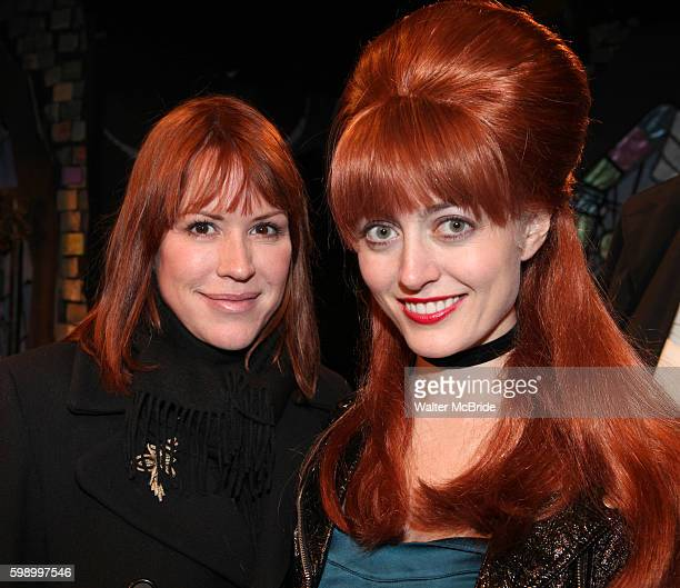 Molly Ringwald visits Amy Rutberg the cast of 'The Divine Sister' Backstage at the SoHo Playhouse in New York City