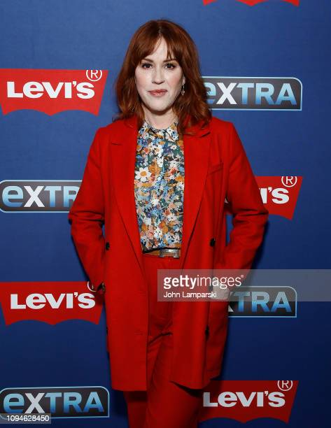 Molly Ringwald visits Extra at The Levi's Store Times Square on January 15 2019 in New York City